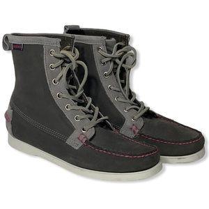 Sebago Docksides High Top Gray Boat Shoes
